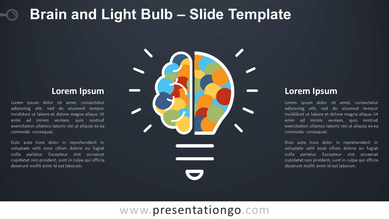 Free Brain and Light Bulb Infographic for PowerPoint and Google Slides