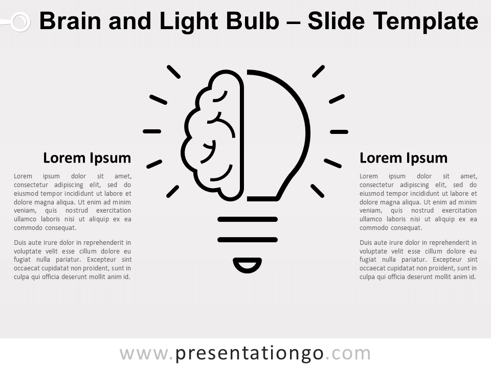Free Brain Light Bulb Infographics for PowerPoint