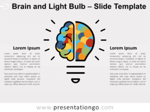 Free Brain Light Bulb for PowerPoint