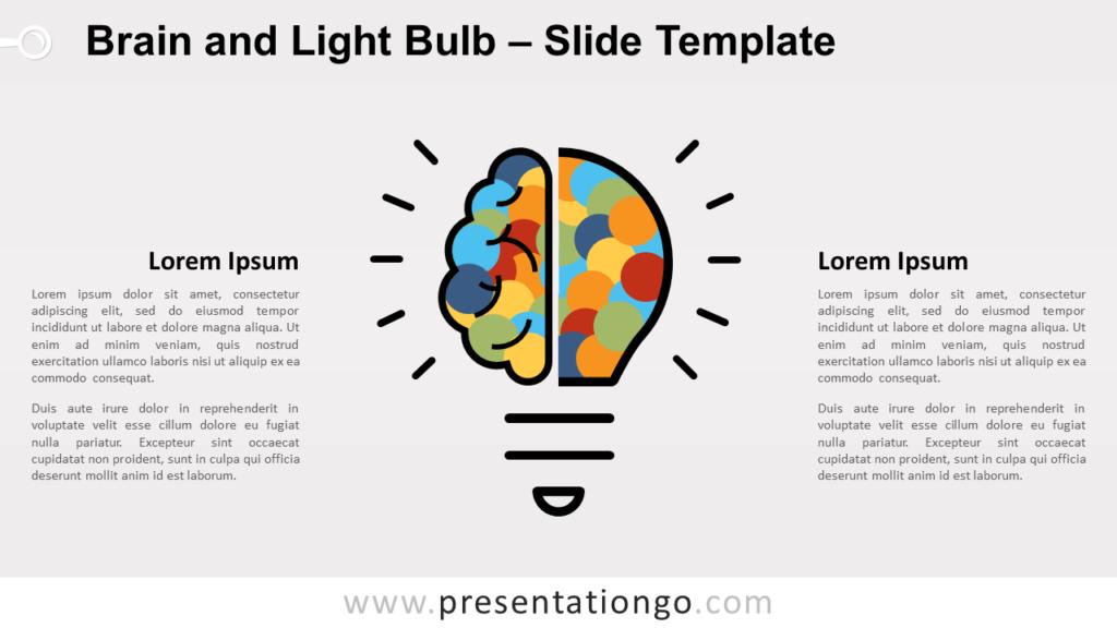 Free Brain Light Bulb for PowerPoint and Google Slides