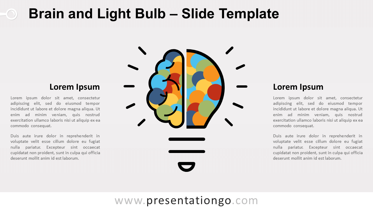 Free Brain Light Bulb for PowerPoint and Google Slides