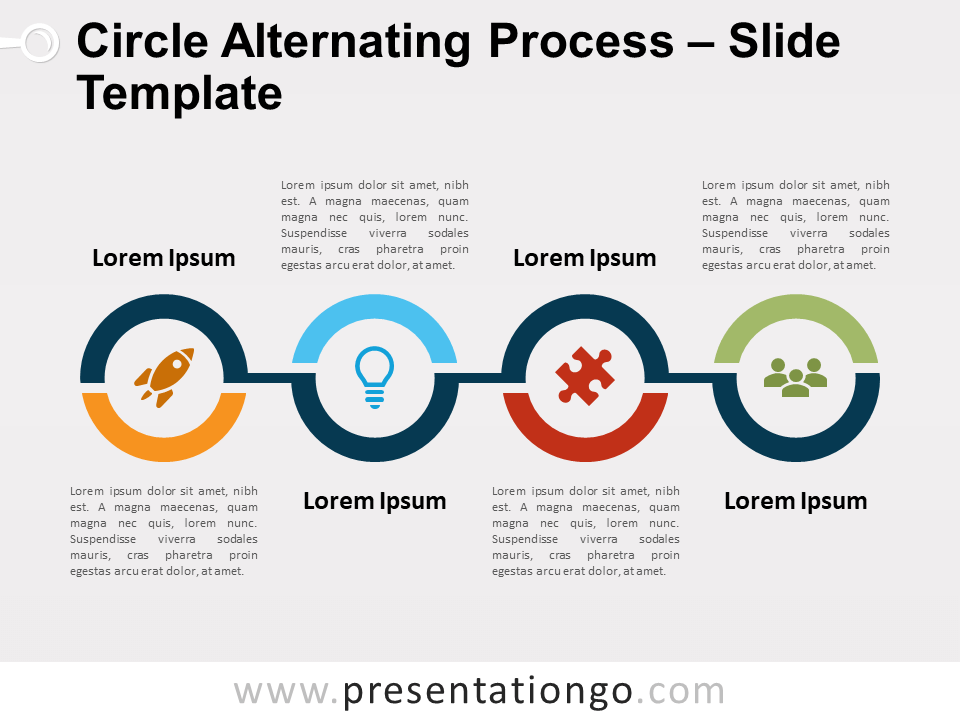 Free Circle Alternating Process for PowerPoint