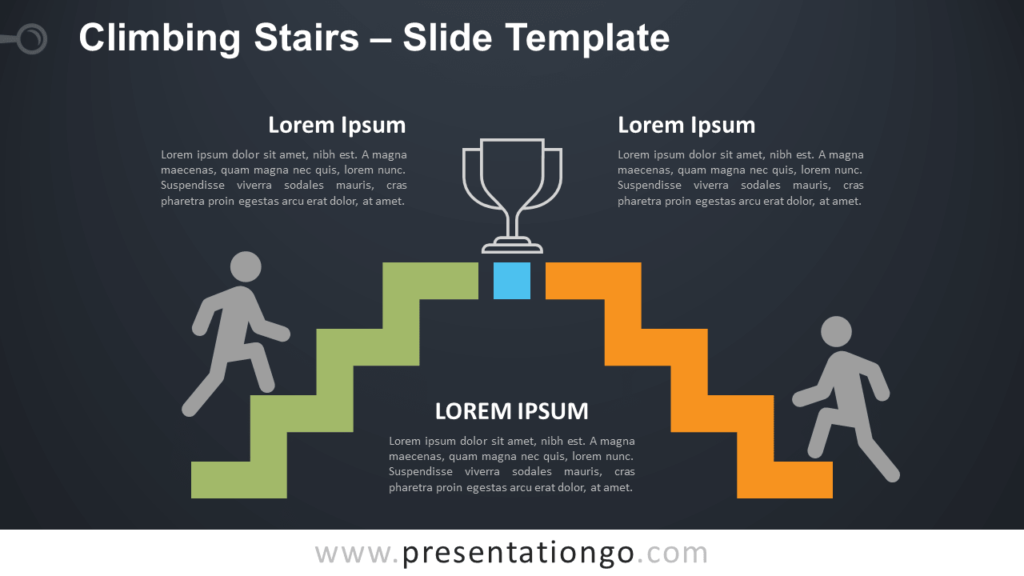 Free Climbing Stairs Infographic for PowerPoint and Google Slides