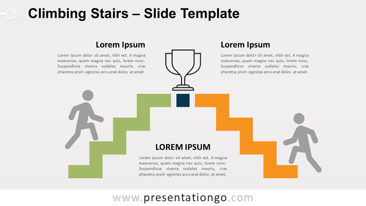 Free Climbing Stairs for PowerPoint and Google Slides