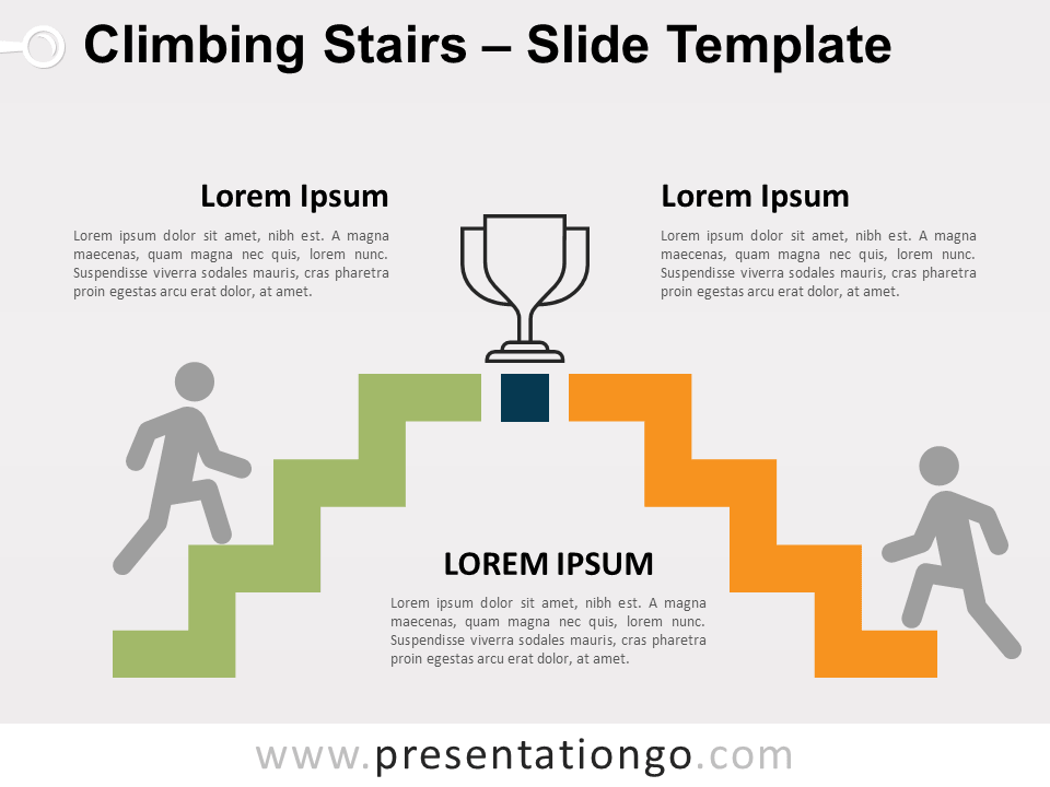 Free Climbing Stairs for PowerPoint