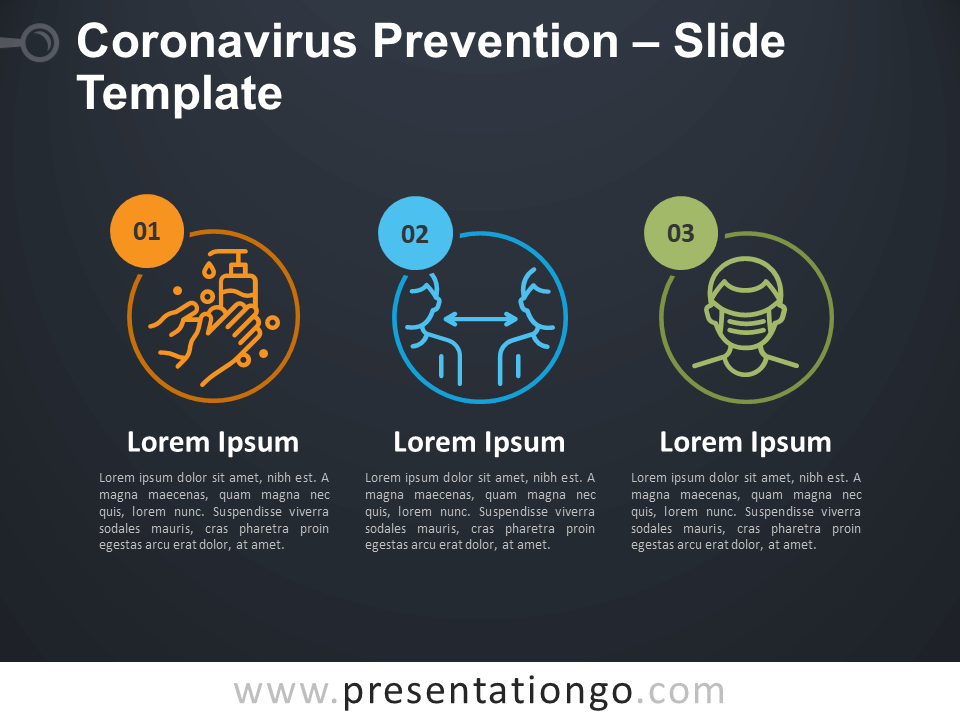Free Coronavirus Prevention Infographic for PowerPoint