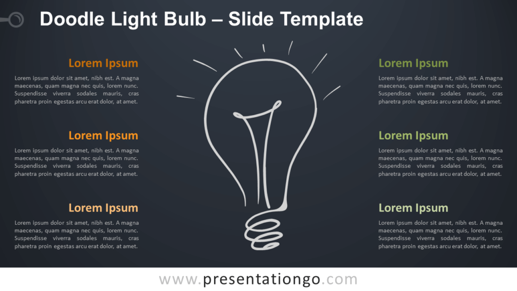 Free Doodle Light Bulb Diagram for PowerPoint and Google Slides