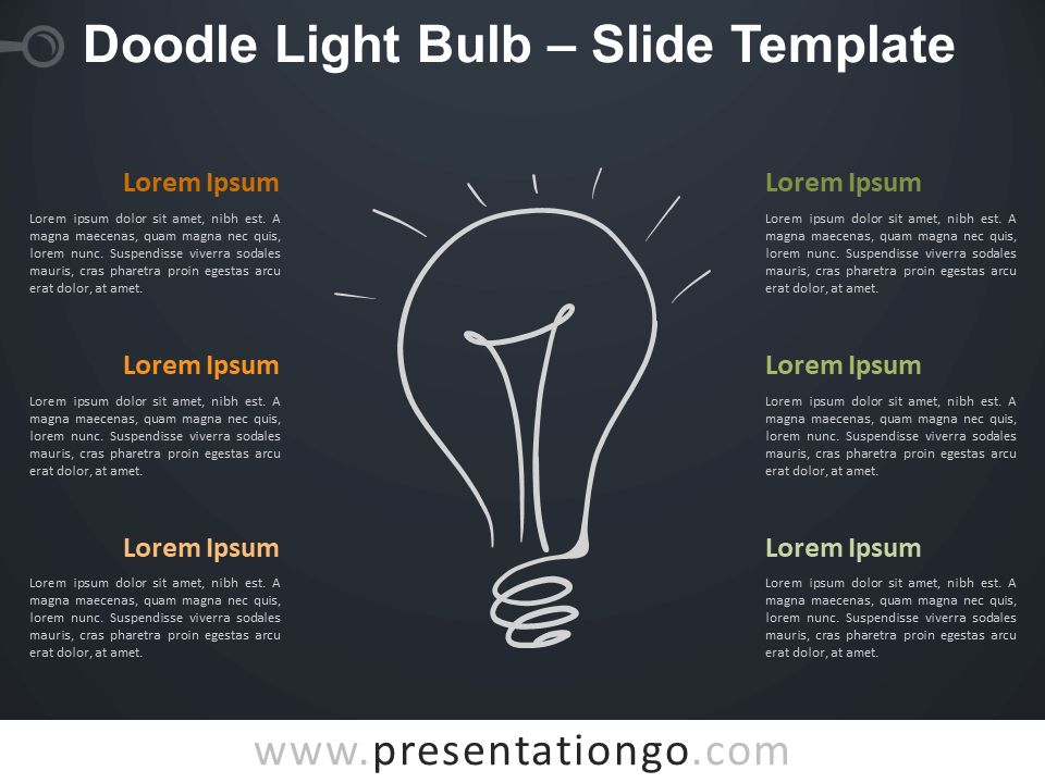 Free Doodle Light Bulb Diagram for PowerPoint
