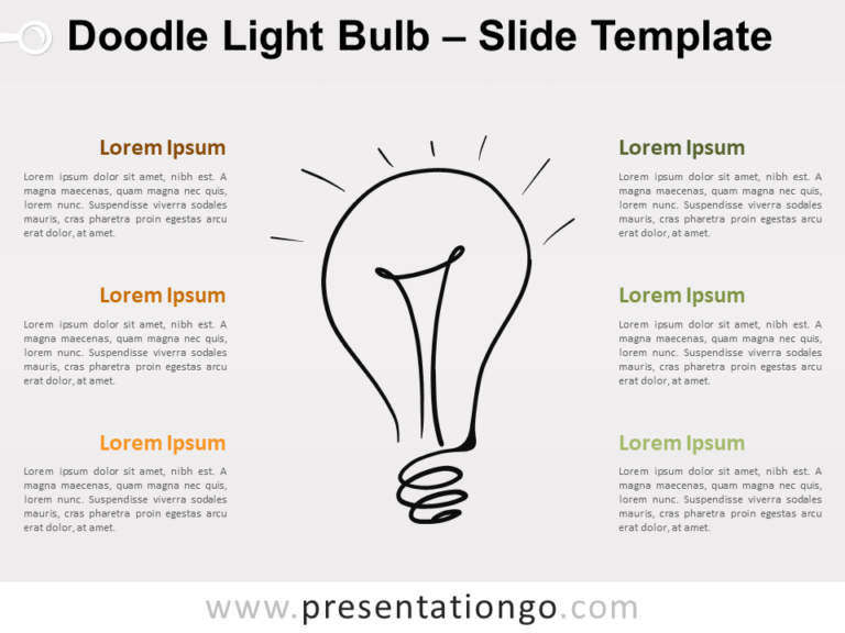Free Doodle Light Bulb for PowerPoint
