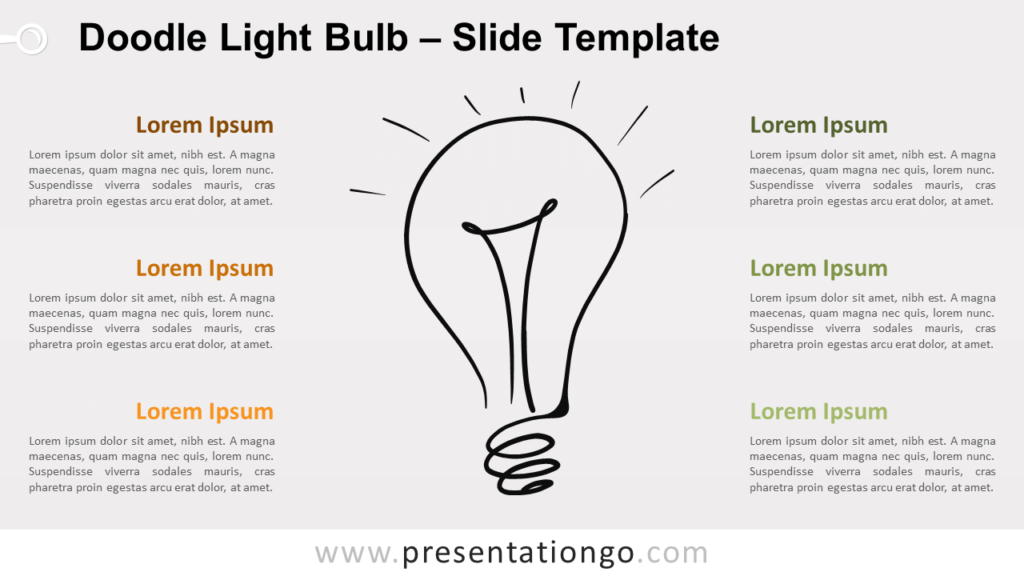 Free Doodle Light Bulb for PowerPoint and Google Slides
