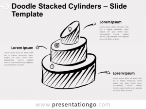Free Doodle Stacked Cylinders for PowerPoint