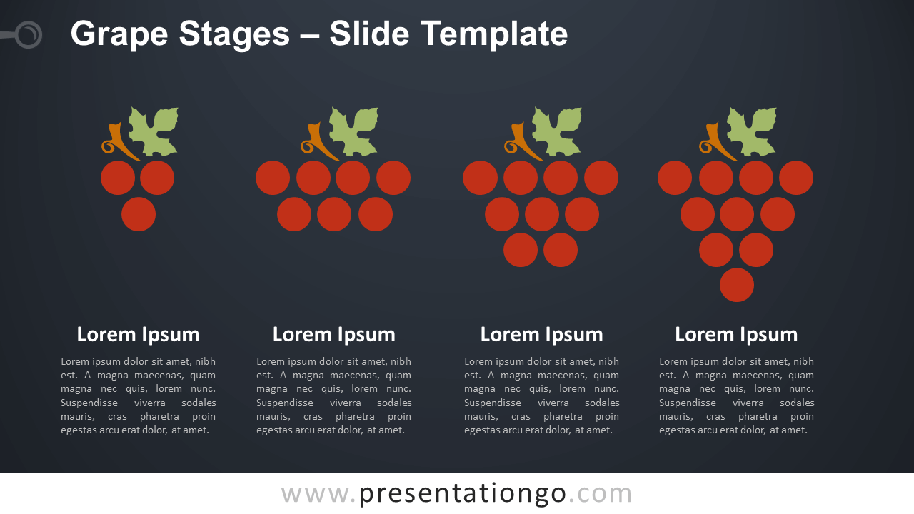 Free Grape Stages Diagram for PowerPoint and Google Slides
