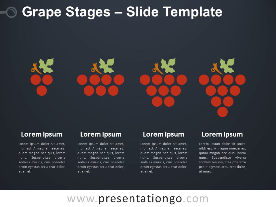 Free Grape Stages Diagram for PowerPoint