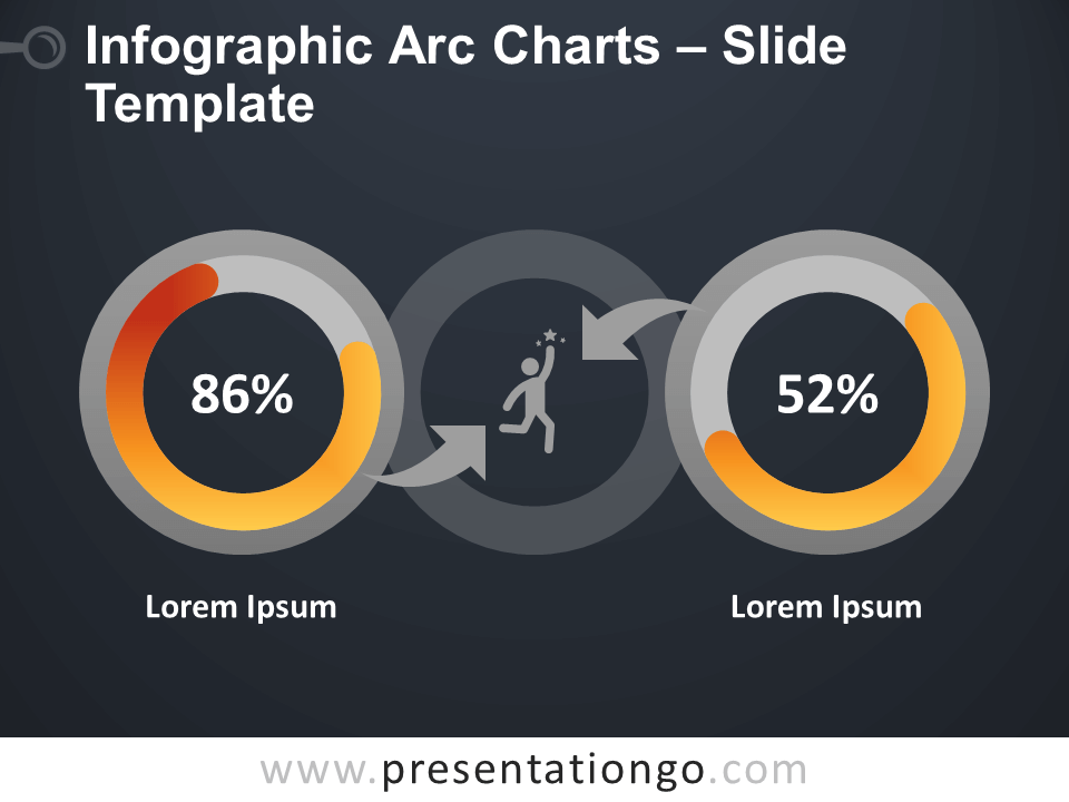 Free Infographic Arc Charts Diagram for PowerPoint