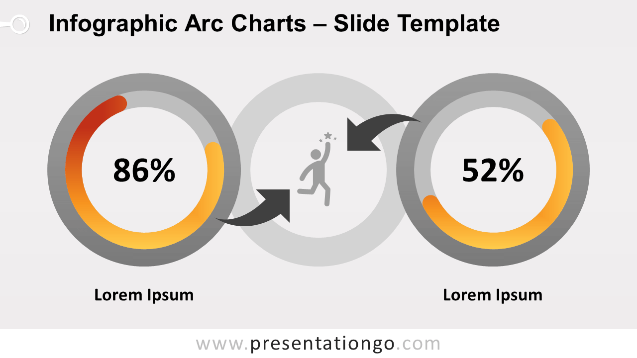Free Infographic Arc Charts for PowerPoint and Google Slides