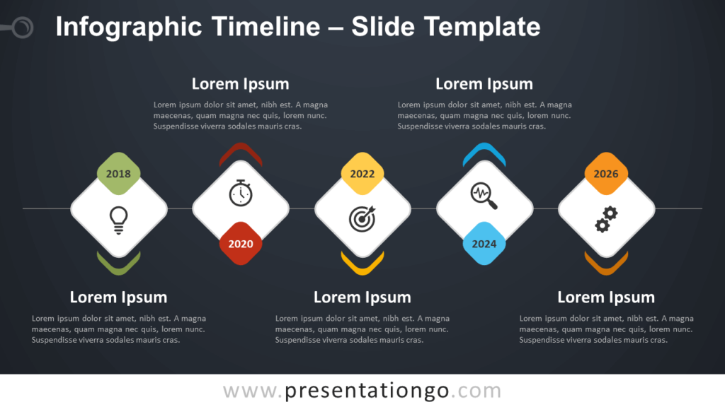 Free Infographic Timeline Template for PowerPoint and Google Slides
