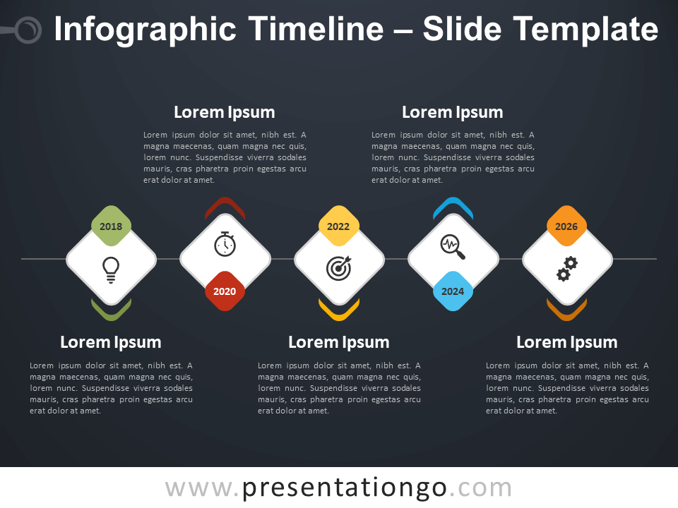 Free Infographic Timeline Template for PowerPoint