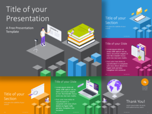 Free Isometric eLearning Template for PowerPoint and Google Slides