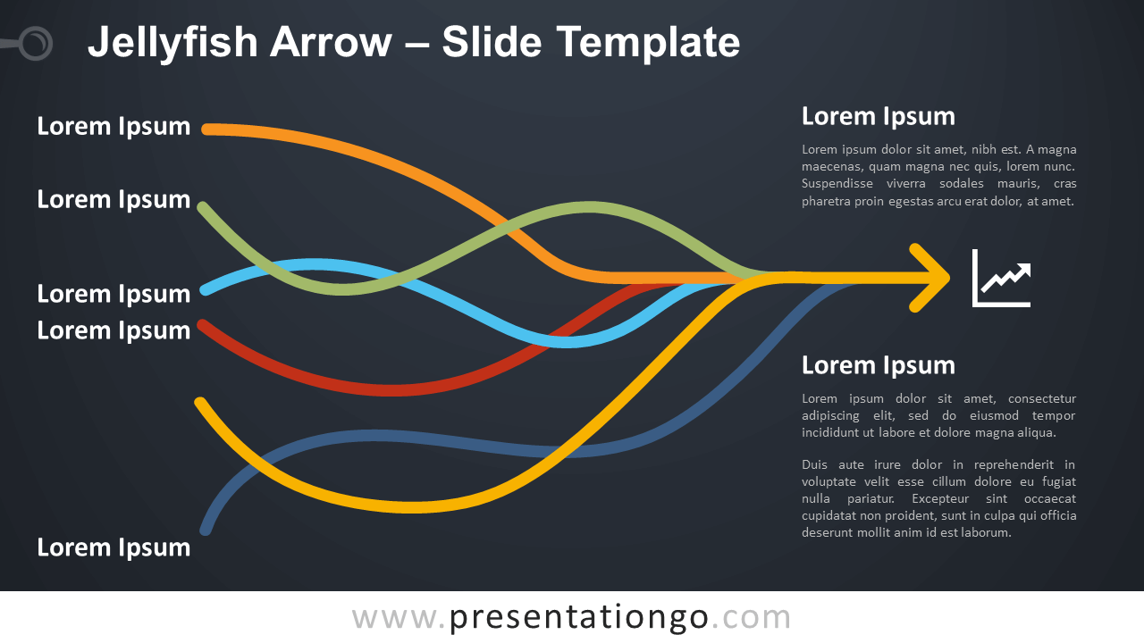 Free Jellyfish Arrow Diagram for PowerPoint and Google Slides