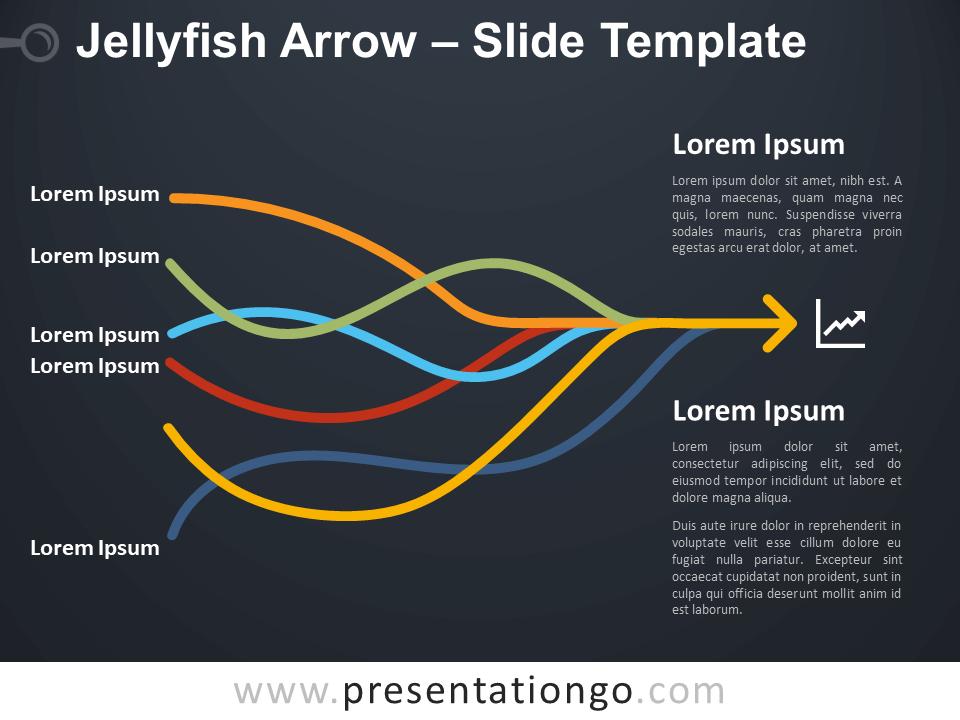 Free Jellyfish Arrow Diagram for PowerPoint
