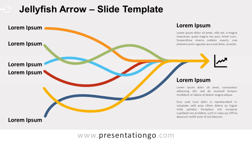 Free Jellyfish Arrow for PowerPoint and Google Slides