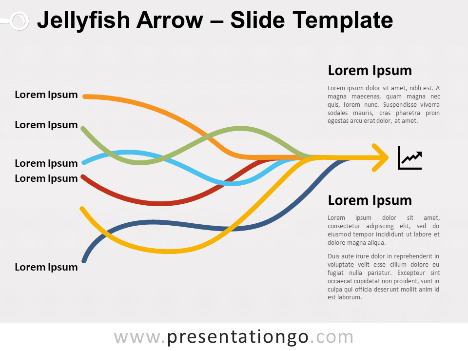 Free Jellyfish Arrow for PowerPoint