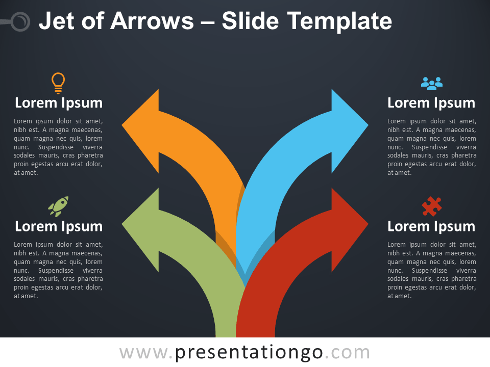 Free Jet of Arrows Infographic for PowerPoint