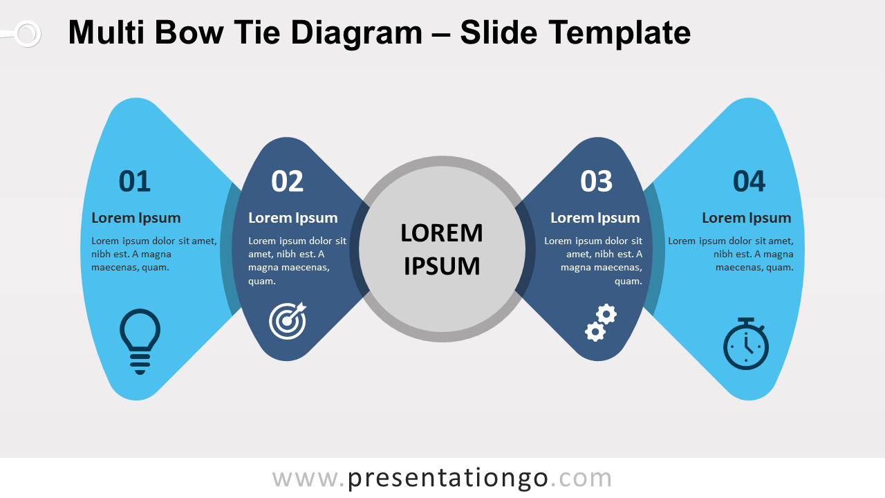 Free Multi Bow Tie Diagram for PowerPoint and Google Slides