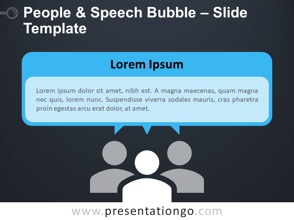 Free People and Speech Bubble Infographic for PowerPoint
