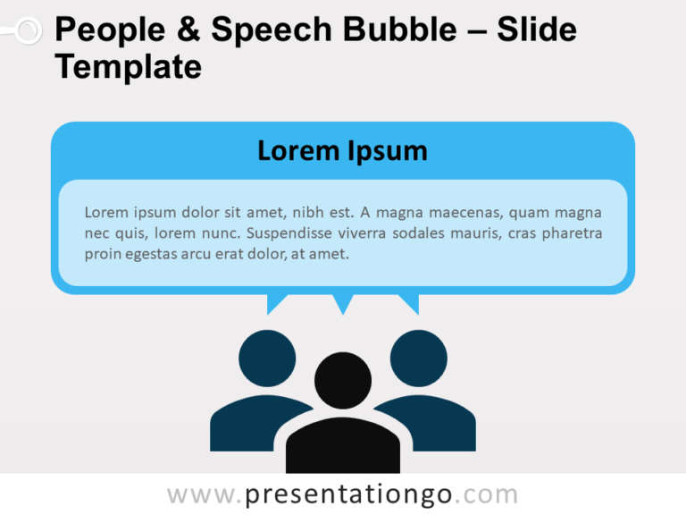 Free People and Speech Bubble for PowerPoint