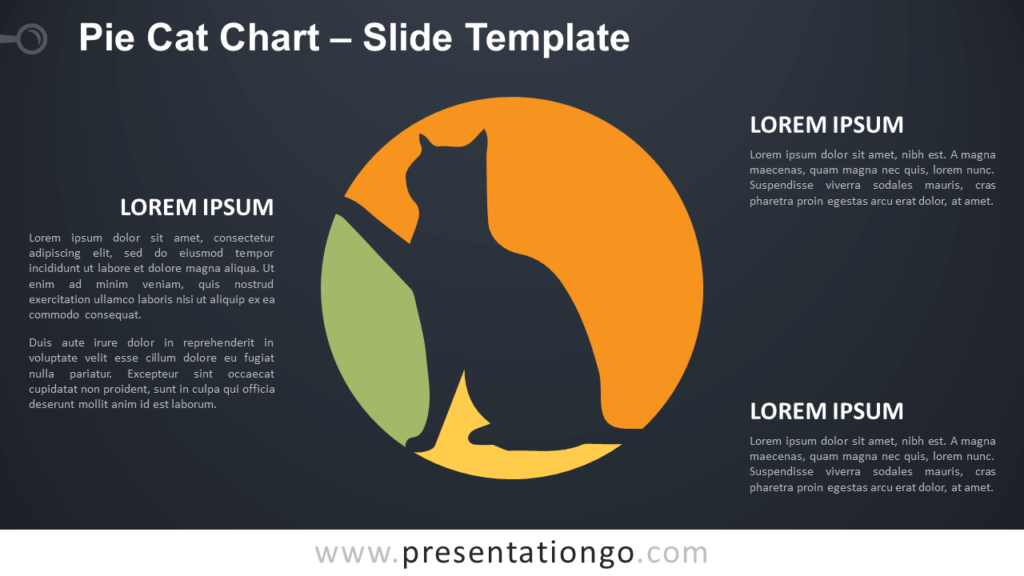 Free Pie Cat Chart Diagram for PowerPoint and Google Slides