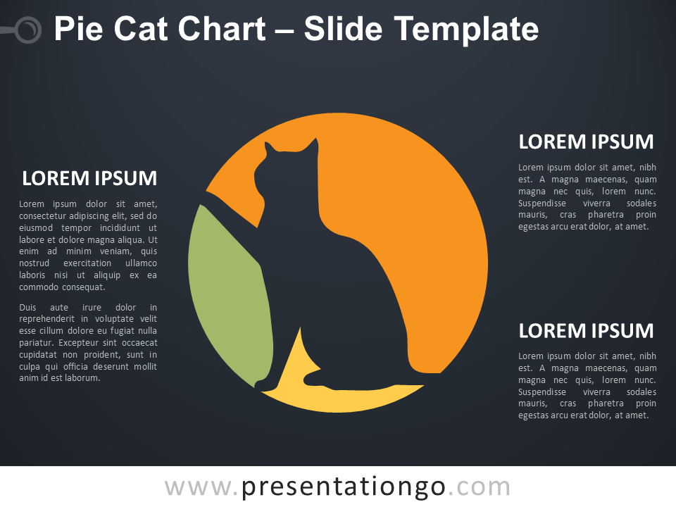 Free Pie Cat Chart Diagram for PowerPoint