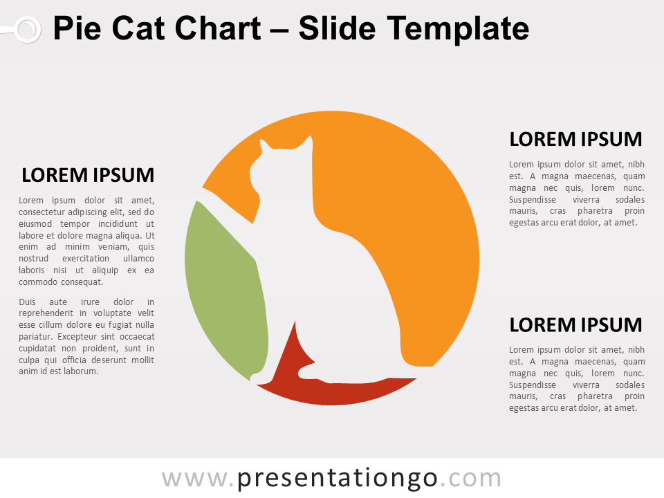 Free Pie Cat Chart for PowerPoint