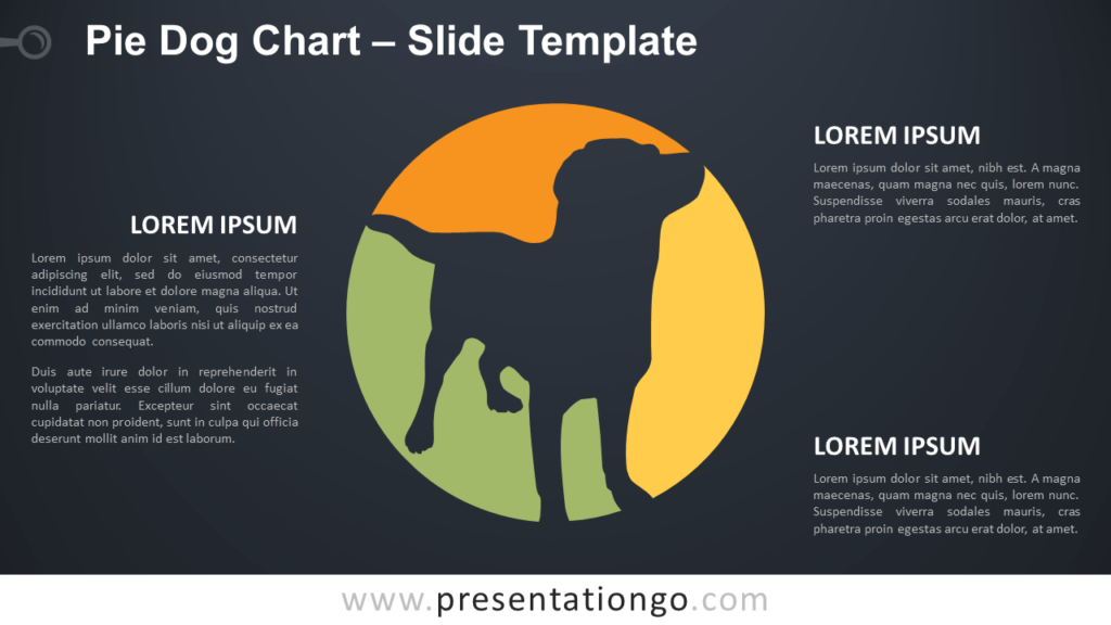 Free Pie Dog Chart Diagram for PowerPoint and Google Slides
