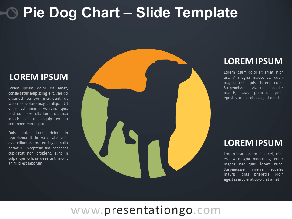 Free Pie Dog Chart Diagram for PowerPoint