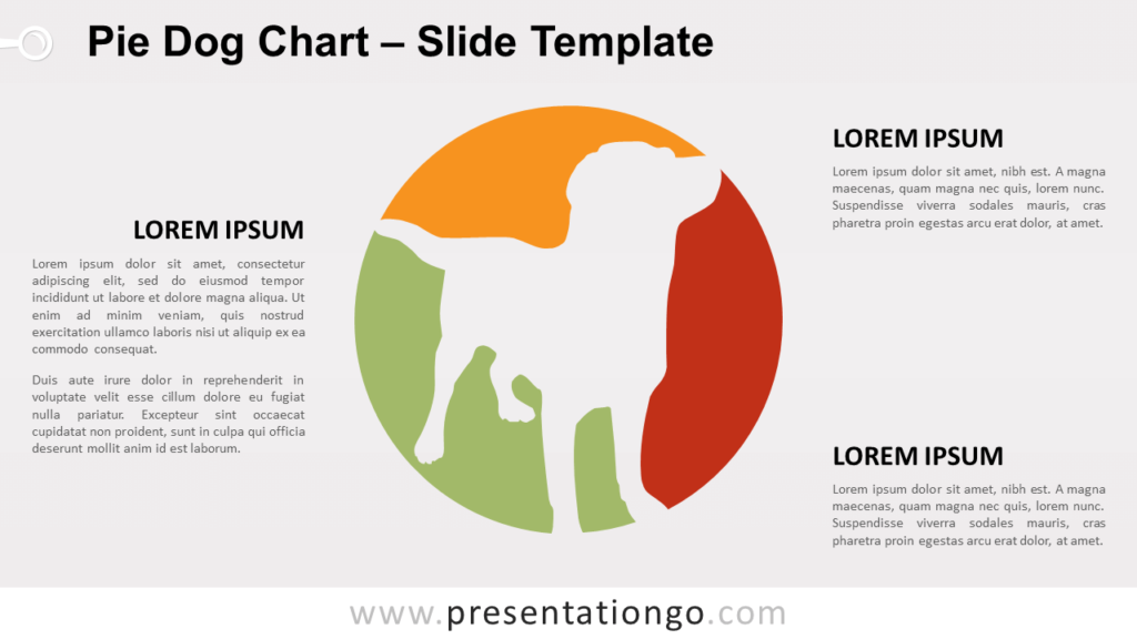 Free Pie Dog Chart for PowerPoint and Google Slides