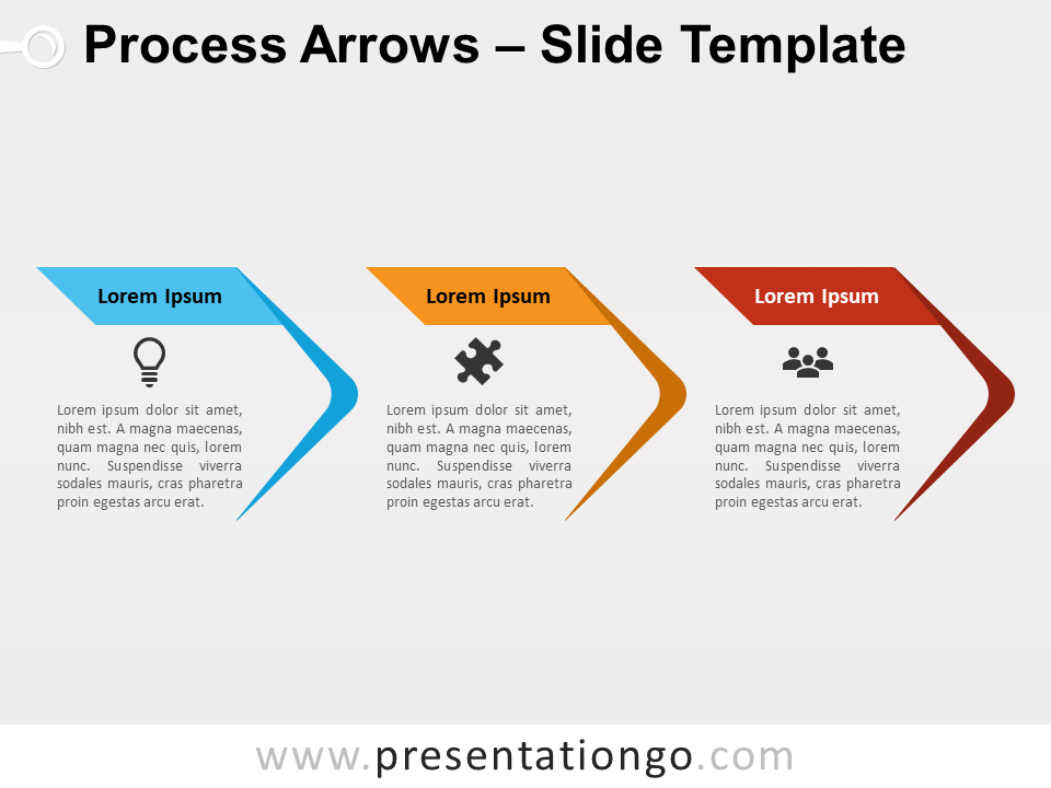 Free Process Arrows Diagram for PowerPoint