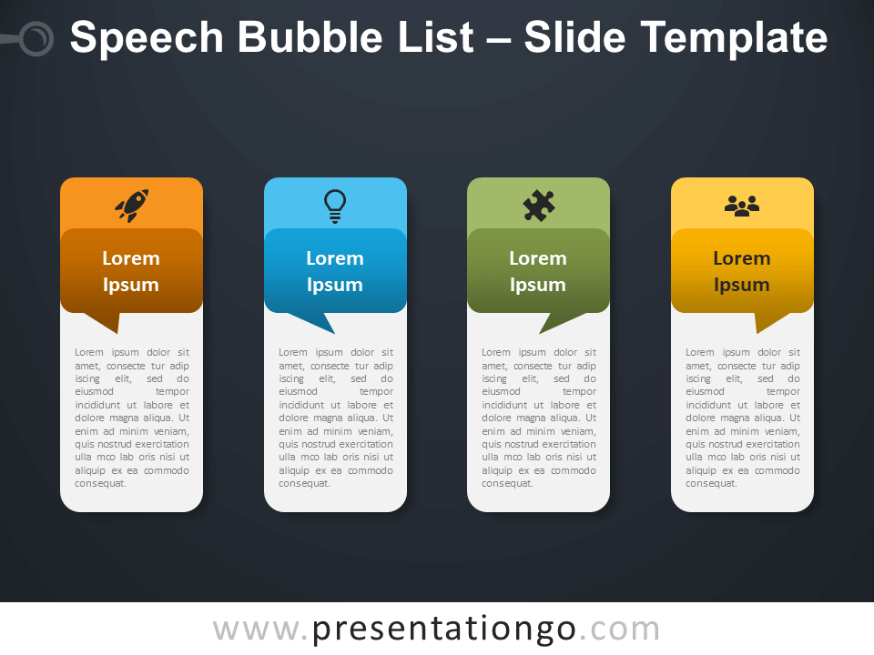 Free Speech Bubble List Table for PowerPoint