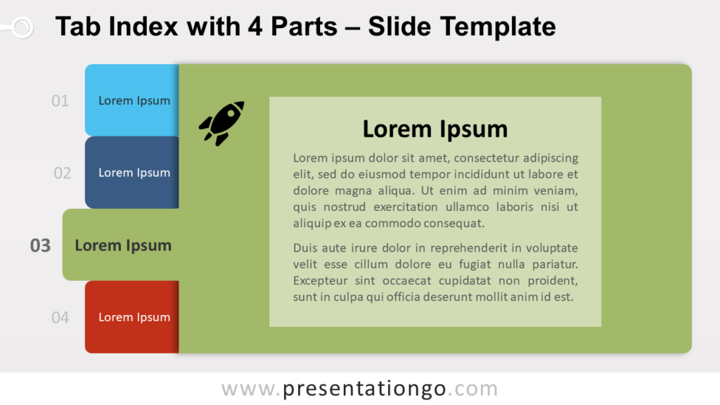 Free Tab Index for PowerPoint and Google Slides