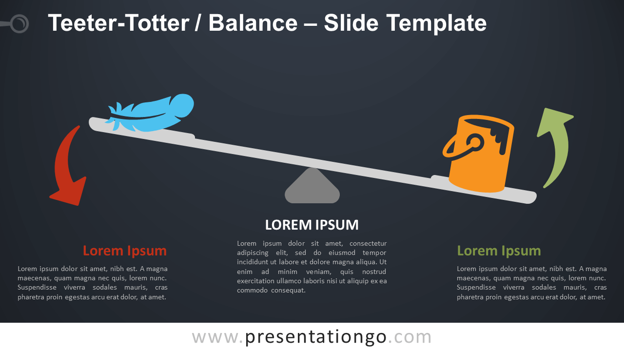 Free Teeter-Totter Balance Infographic for PowerPoint and Google Slides