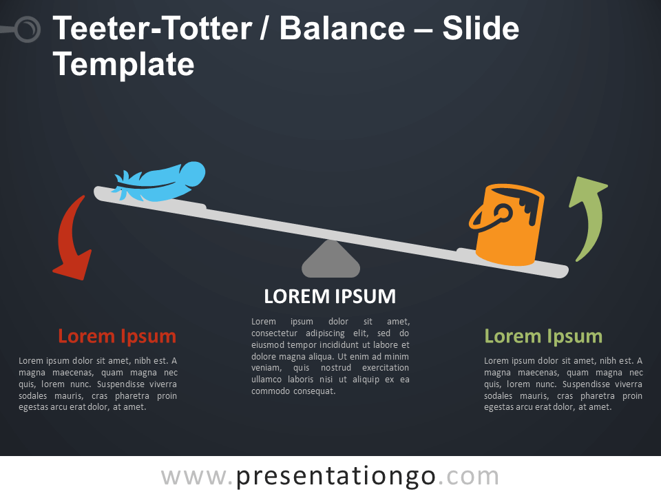 Free Teeter-Totter Balance Infographic for PowerPoint