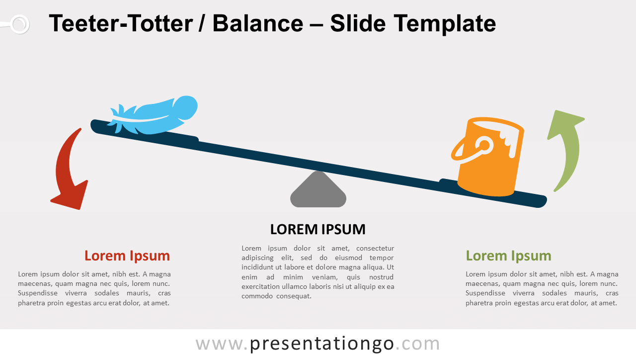 Free Teeter-Totter Balance for PowerPoint and Google Slides