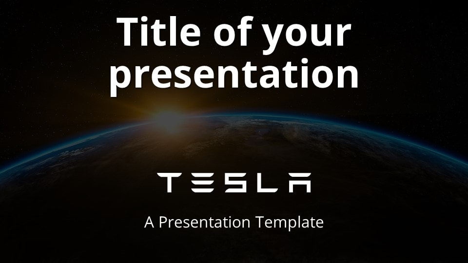 Free Tesla Template for PowerPoint and Google Slides