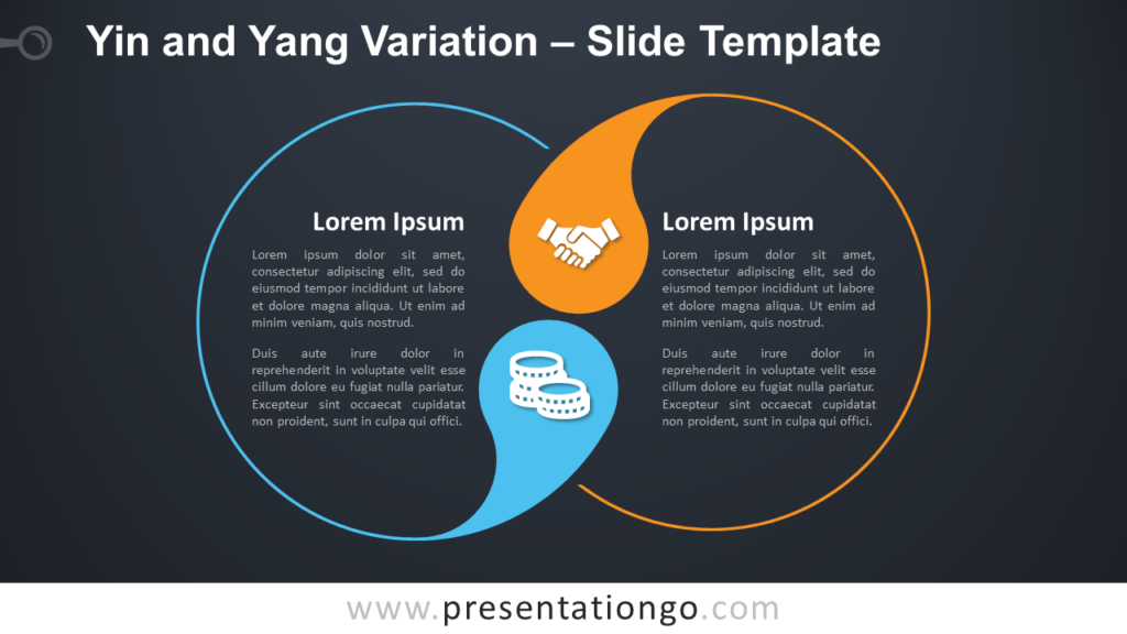 Free Yin and Yang Variation Diagram for PowerPoint and Google Slides