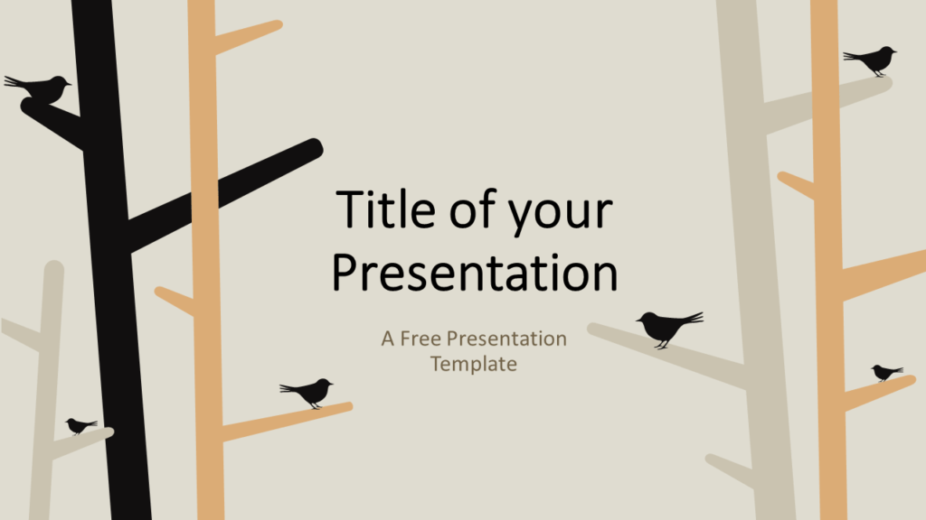 Free Birds Template for Google Slides - Cover Slide
