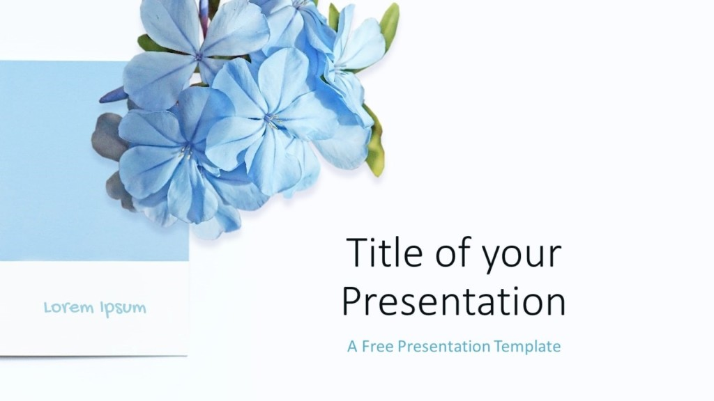 Free Color Cards and Flowers Template for Google Slides - Cover Slide