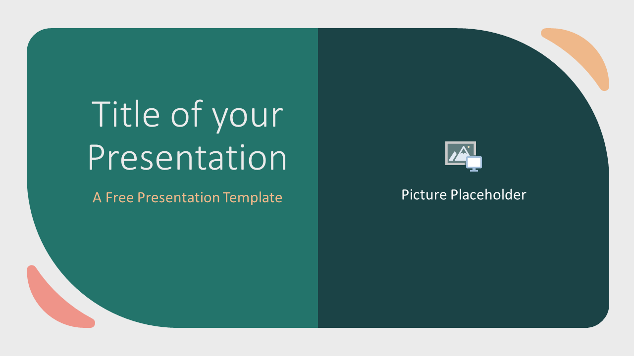 Free Green Rounded Abstract Template for Google Slides - Cover Slide