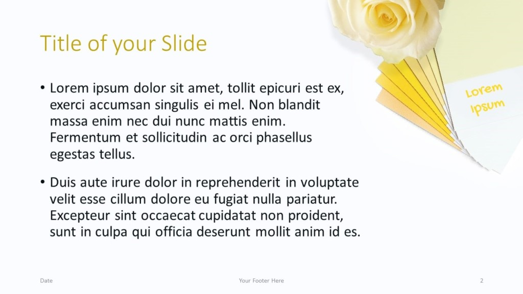 Free Color Cards and Flowers Template for Google Slides – Title and Content Slide (Variant 1)