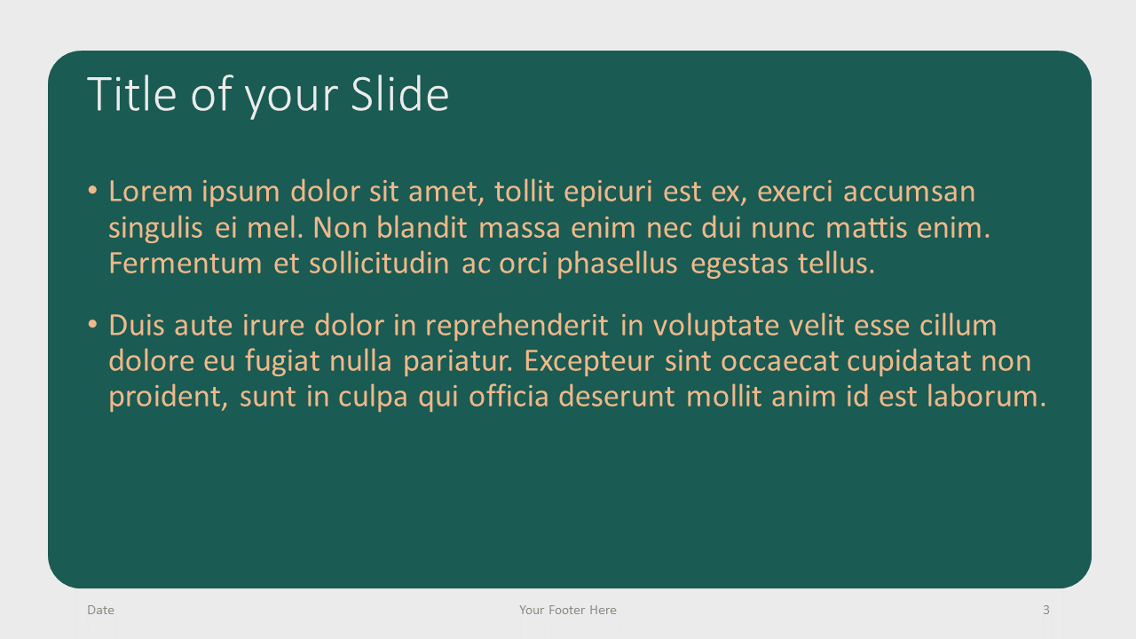 Free Green Rounded Abstract Template for Google Slides – Title and Content Slide (Variant 2)