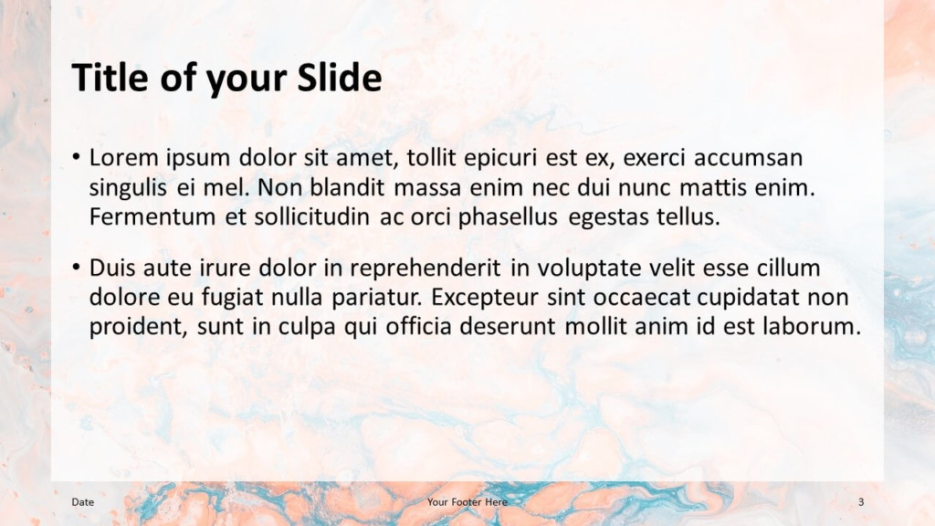 Free Liquid Marbling Paint Template for Google Slides – Title and Content Slide (Variant 2)